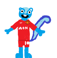 Skyler in a Manchester United Kit by HTF-432