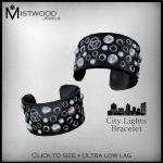 City Lights Bracelets - Black by Aedil
