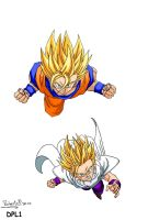 GOKU Y GOHAN COLORES....PC by MUERTITO69