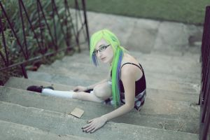sitting on the staris by KateEllenF