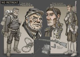 No Retreat - Character Designs by CaconymDesign