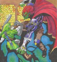 Link vs Ganondorf by Silkenkilly