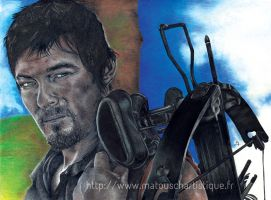 Portrait de Daryl (The Walking Dead) by MaTouschArtistique