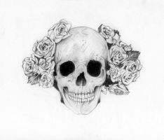 Skull and roses by FradiMaggio