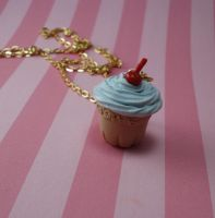 French Bakery Cupcake Necklace by FatallyFeminine