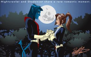 Nightcrawler and Shadowcat by trisaber
