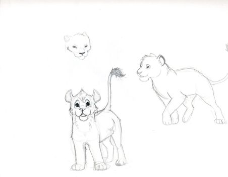 Lion Cubs by Zephammo