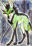 ACEO- City Streets by cloudstar-wolf