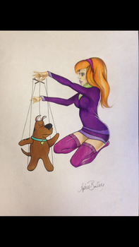 Pin up style scooby doo  by sophieBaileyart