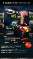 CHALLENGE Fitness Flyer Template by anekdamian