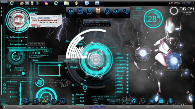 Iron Man Windows 7 Theme 2011 by jeromegamit