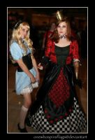 Alice and The Queen of Hearts by ljvaughn