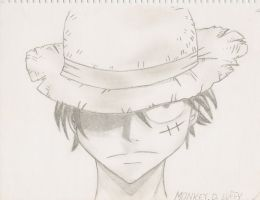 Monkey D. Luffy by AmandaMary28