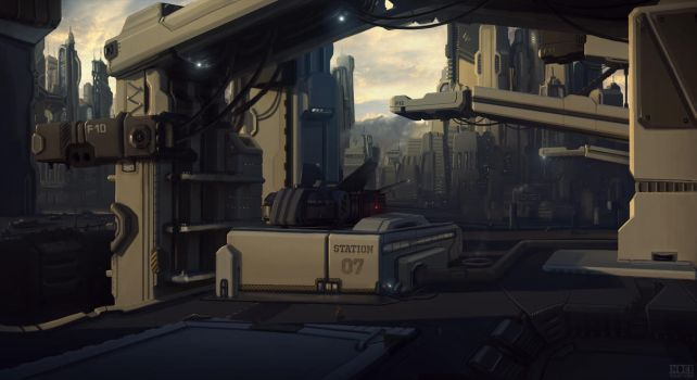 fuel station by trainfender