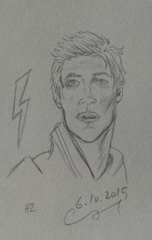 Barry Allen pencil by vihervirveli