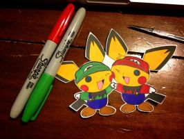 pichu brothers / super mario bros. by dance-arcadia