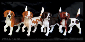 Breyer Companion Animals - Beagles by The-Toy-Chest