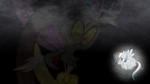 Discord Scares Rainbow Dash - Wallpaper by TheSharp0ne