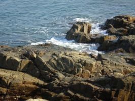 Sea and Rocks by JacquiJax-Stock