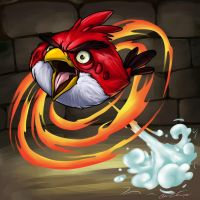 CONTEST  - Angry Bird - RED - Puzzle and Dragons by nyausi
