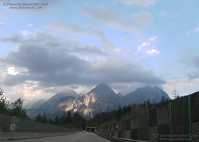 Traveling - Under the mountains of Tyrol by Tazunee
