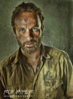 The Walking Dead: Rick: Oil Paint Re-Edit by nerdboy69