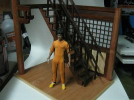 bruce lee G.O.D 1:6 diorama by SimonFX