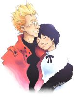Vash and Meryl by rockinrobin