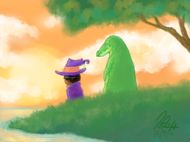 Boy and his gator by irVampire