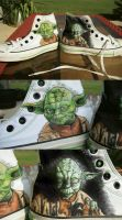Yoda Chucks by TheRogueSPiDER