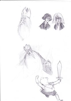 Wrath of the roughly sketched Ice King by thorin111
