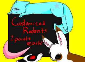 Customized Rodent Adoptables 2 Points Each by DetritusDroid