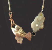 Cloud Fish Necklace by CosmicFolklore