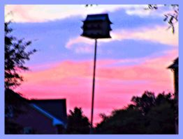 sunset on 7/18/2015 poster format by HomeOfBluAndshadows