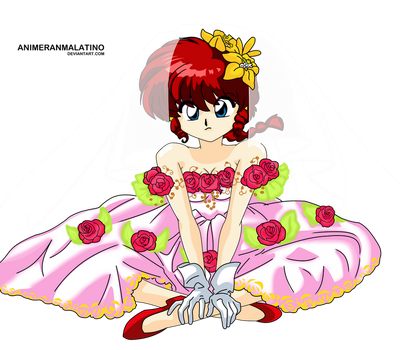 Ranma chan wedding dress [Color] by animeranmalatino