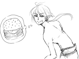 Thirst for Burger by watermelonseeds