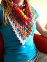 Spectral Flame Scarf by the-carolyn-michelle