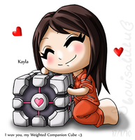 Companion Cube Love by louisalulu