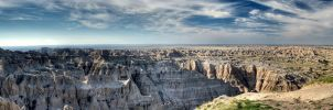 Badlands HDR Panorama 2 by jbkalla