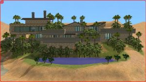 Sims 2 tropical home by RamboRocky