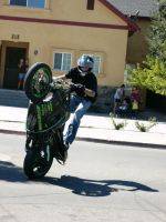 Stunt Riders at Car Show - 8 by RoadTripDog