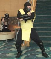 Scorpion from Mortal Kombat at LB Comic Con 2013 by trivto