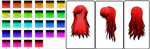 MMD 29 Hair Texture Pack by Icon-Comission