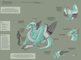 Feathered Dragon Species Sheet by Ulario