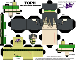 Toph as a cubeecraft Avatar The Last Airbender by SKGaleana