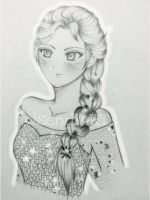 My 100th Deviation : Queen Elsa From FROZEN by sendiART