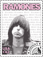 Ramones Stamps: Johnny by exfish