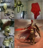 Greek god ARES spartan armor cosplay by karlonne