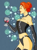 Adam Hughes Black Queen colored by Nehora03