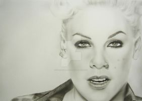 P!nk Portrait by colorXplosions